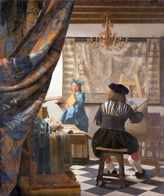 Johannes Vermeer's 'The Art of Painting' completed c. 1662—1665. Photo: WikiMedia.org.