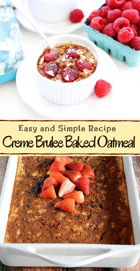 Creme Brulee Baked Oatmeal #healthyfood #dietketo #breakfast #food