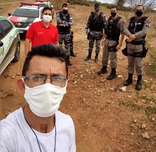 Em Picuí, ação conjunta da VISA e PM encerra bolão de vaquejada na zona rural do município