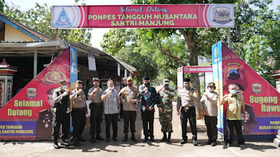 Demi Pemulihan Dampak Corona. Kapolres Wonogiri Launching Kampung dan Ponpes Tangguh Nusantara Candi