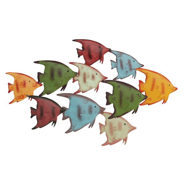 School of Fish Metal Wall Decoration 1 of 2