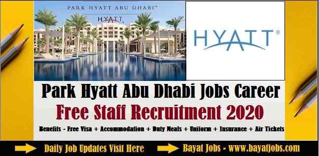 Park Hyatt Abu Dhabi Jobs Career Free Staff Recruitment 2020