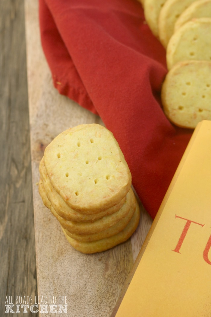 Curry Parmesan Shortbread