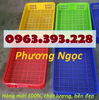 Sóng nhựa hở HS010, sọt nhựa cao 10 đựng nông sản, thùng nhựa rỗng HS010, rổ nhựa công nghiệp