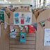Hanging out the bunting at our Children's Book Award Discussion Day