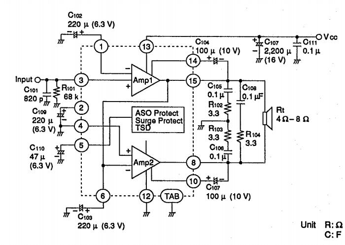 amplifiercircuits com  20w 20w