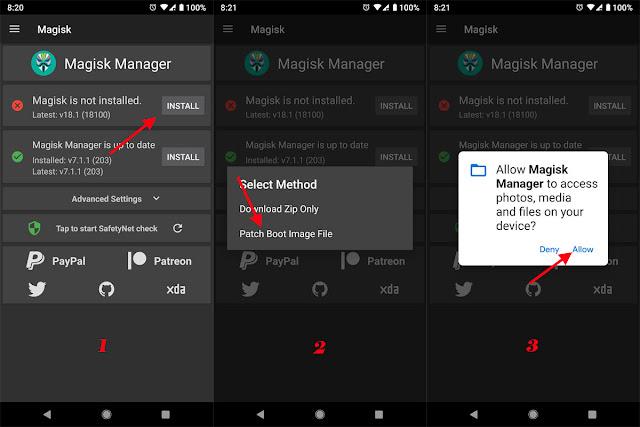 Cara Root Samsung Galaxy A20 Pie 9.0 (SM-A205F, SM-A205FN, SM-A205G, SM-A205GN) Via Magisk Manager
