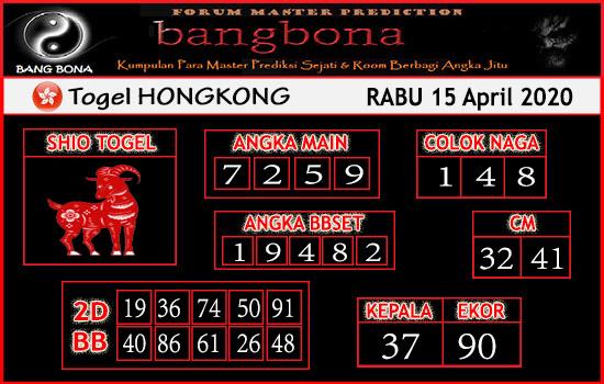 Prediksi HK 14 April 2020 - Bang Bona HK