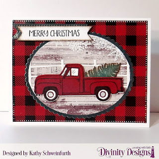 Stamp/Die Duos: Loads of Love, Paper Collection: Rustic Christmas, Custom Dies: Pierced Rectangles, Ovals, Scalloped Ovals, Treat Tags, Farm Fence