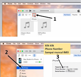 cara cek imei iphone - itunes