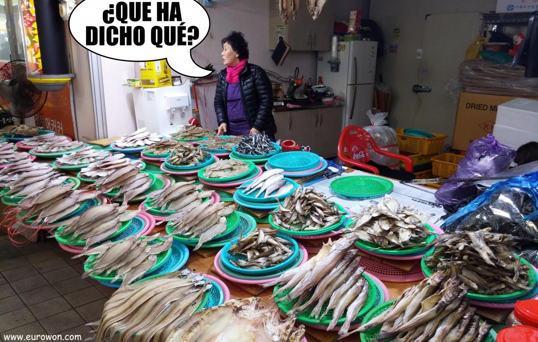 Pescantina coreana discutiendo