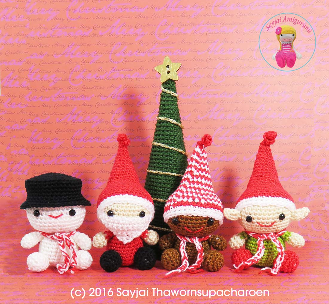 Christmas Amigurumi Patterns - Sayjai Amigurumi Crochet ...
