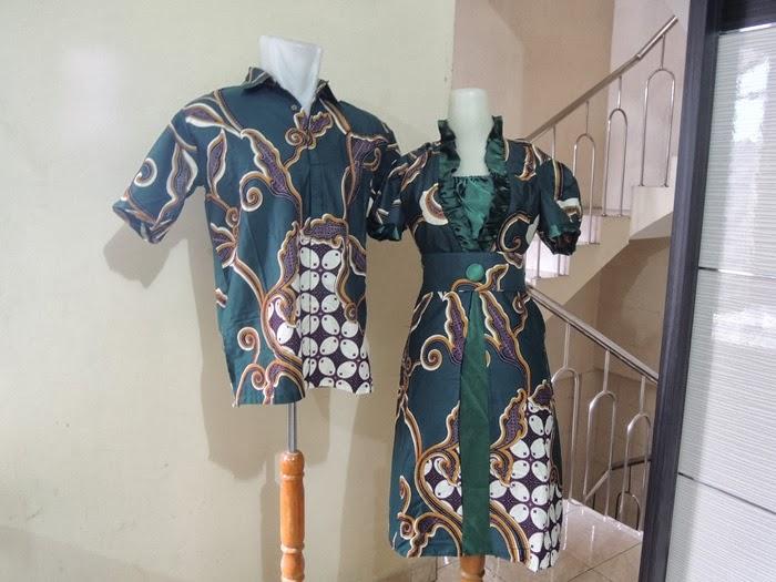 Palastri Shop   Gabriella Shop  sarimbit gaun kombinasi batik + saten d98e7d7526
