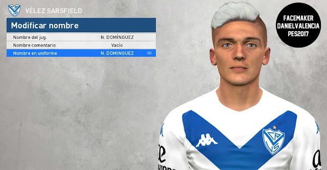 PES 2017 Nicolás Domínguez Face By DanielValencia