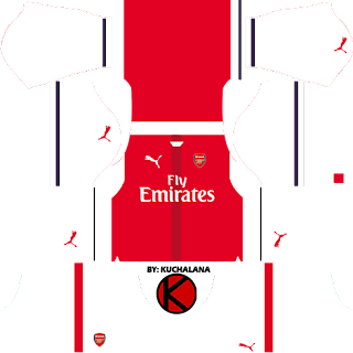 Arsenal Kits 2016/2017 - Dream League Soccer 2016 & FTS15