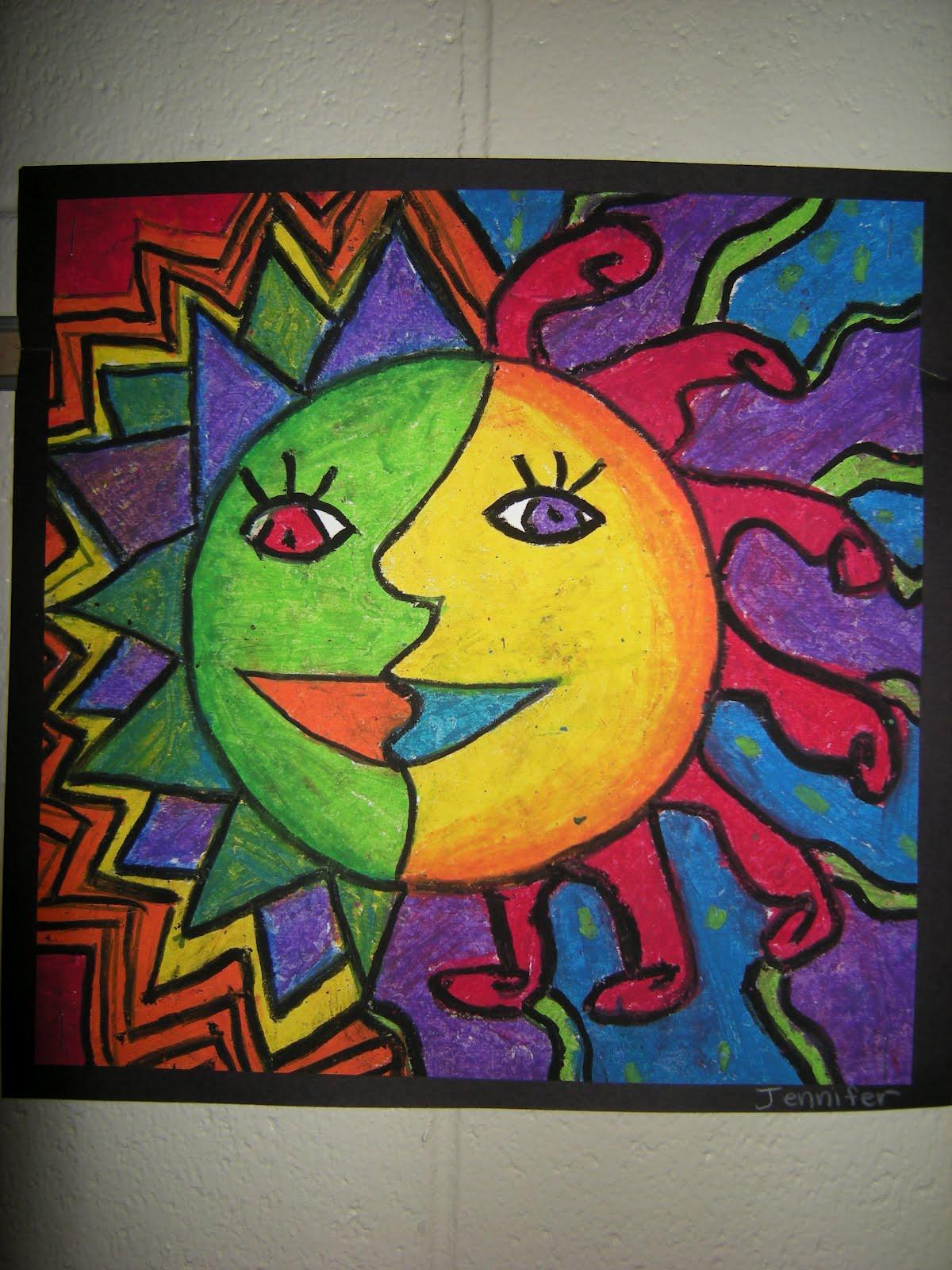 What S Happening In The Art Room 4th Grade Aztec Sun