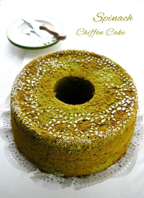 Citra S Home Diary Best Spinach Chiffon Cake Chiffon