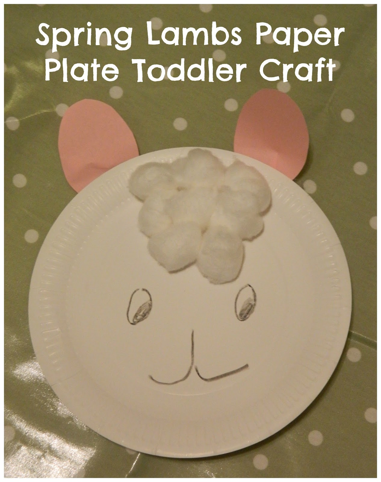 Spring Lambs Toddlers Paper Plate Craft