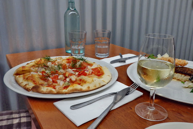 Pizza, essen, Lunch, Mittagessen, Hay Shed Hill, Margaret River, Cellardoor, Weingut, Restaurant, Weintour