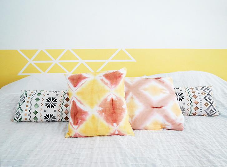 DIY shibori dyeing cushion