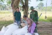 Beri Motivasi Pada Petani, Anggota Satgas TMMD Turun Langsung Ke Sawah