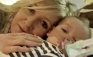 Connie Yates with son Charlie Gard