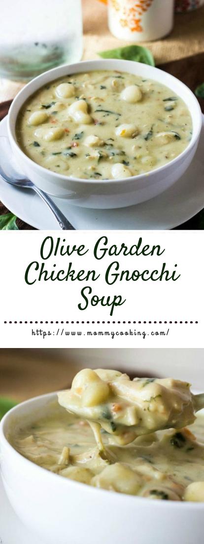 Olive Garden Chicken Gnocchi Soup #dinner #souprecipe