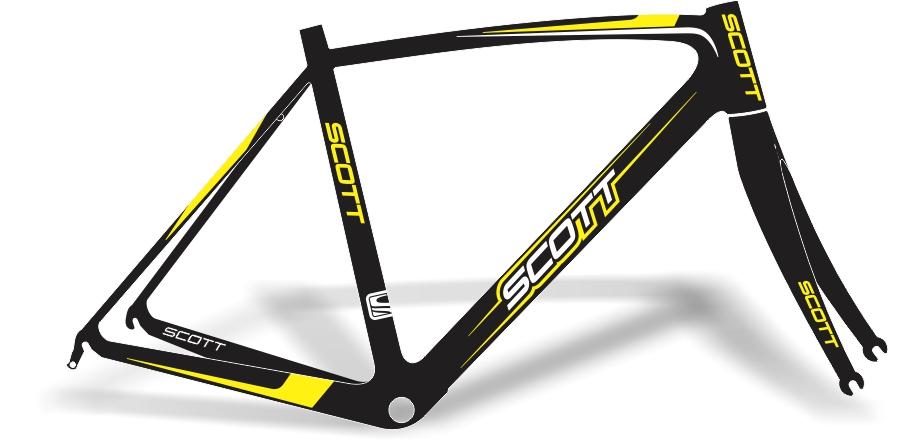 Adesivo bike scott speed