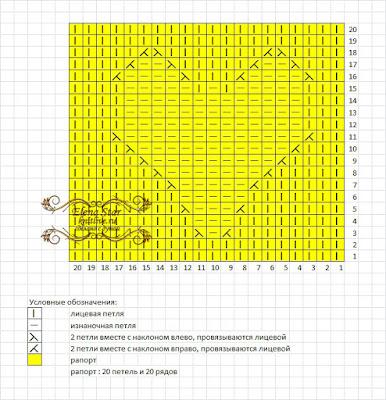 Схема узора Сердечко