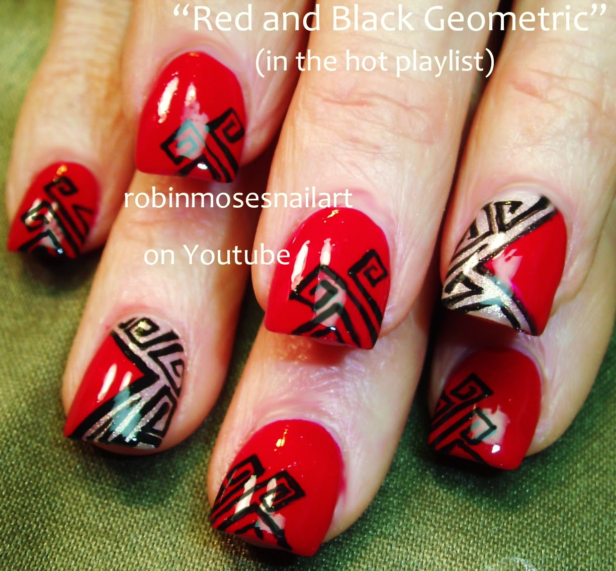 "Robin Moses Nail Art: ""red Nails"" ""red Nail Art"" ""red Nail"