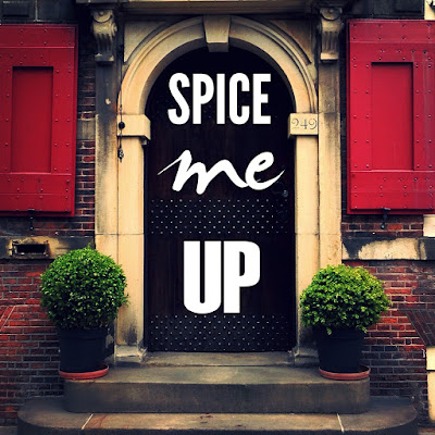 decorated door saying spice me up designed by visualartzi to help promote your art