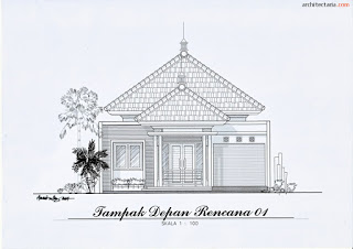gambar sketsa tampak depan rumah minimalis
