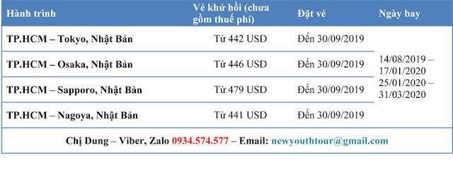 Vé máy bay đi Nhật Bản giá rẻ của Eva Air