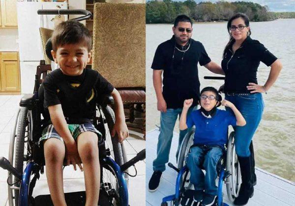O menino  Michael que tem paralisia cerebral salva família de vazamento de gás à noite