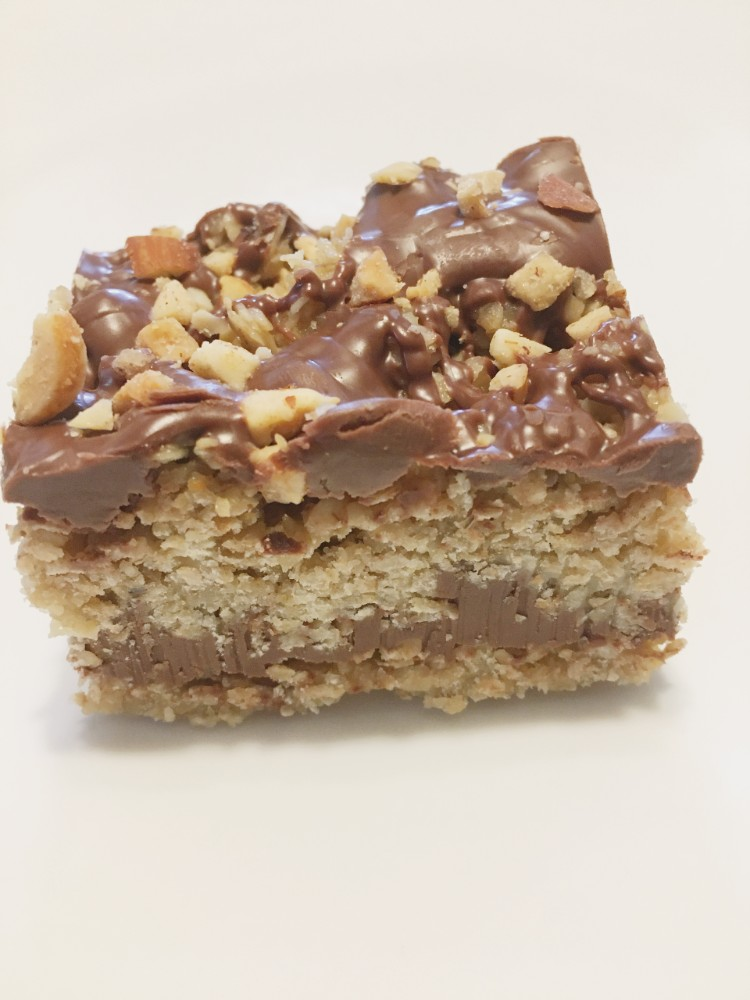 No Bake Chocolate Oat Nut Bars