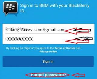 Lupa Kata Sandi BBM Password