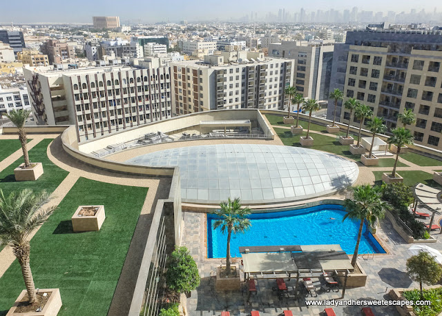 Swissotel Al Ghurair pool deck