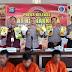 Kapolres Rohil Gelar Press Release Pengungkapan Pelaku Tindak Pidana Narkotika 15 Kg Sabu