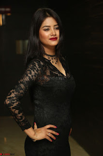 Actress Monica in spicy transparent Black Top at O Pilla Nee Valla Movie Audio Launch Feb 2017 104.JPG