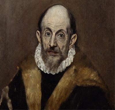 El Greco Αυτοπροσωπογραφία(;) (π. 1590-1600) πηγή εικ. wikipedia  Λάδι σε μουσαμά, 52,7×46,7 εκ., Νέα Υόρκη, Μητροπολιτικό Μουσείο.