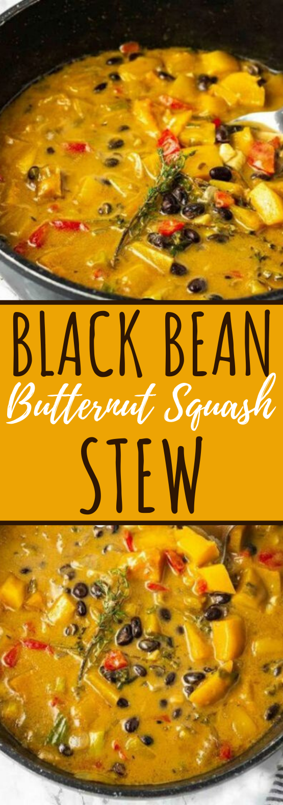 Black Bean Butternut Squash Stew #vegan #dinner #soup #stew #comfortfood