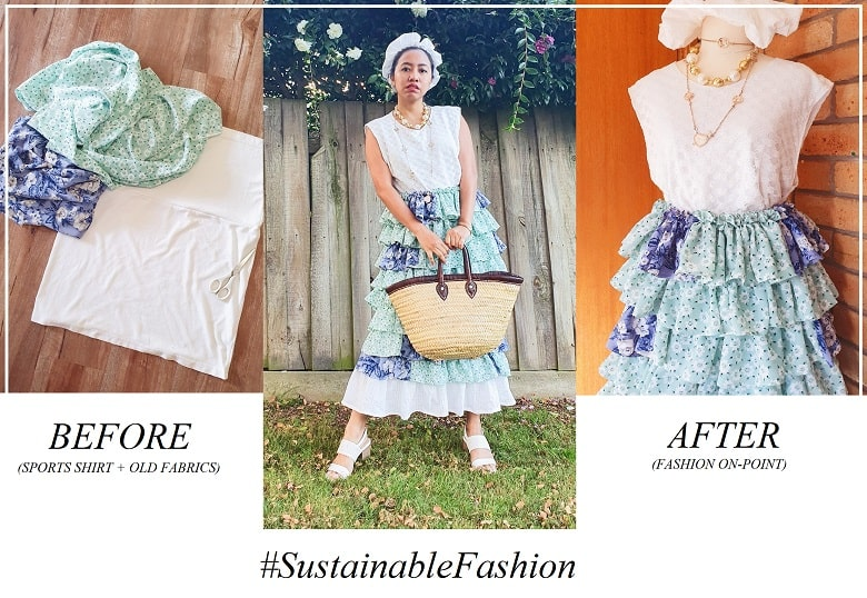 upcycle fashion, sustainable fashion, thrifting fashion