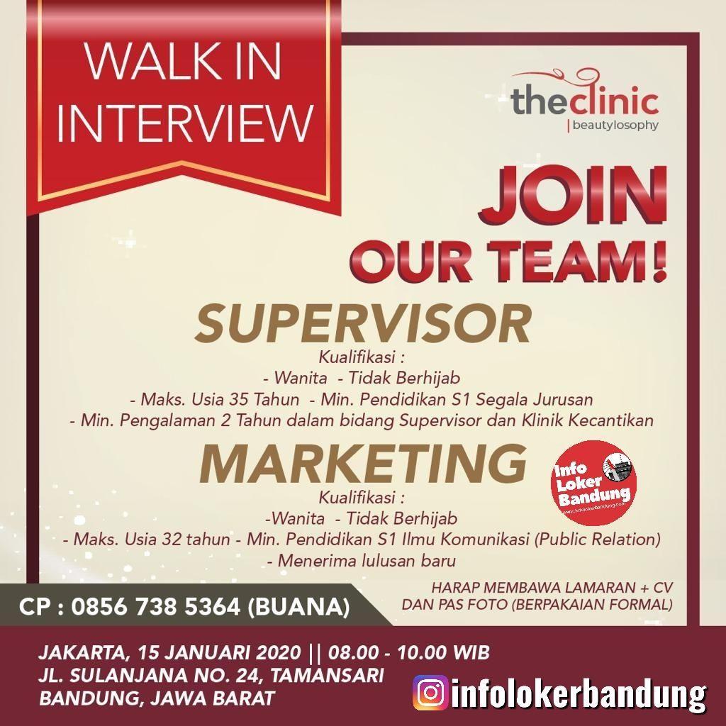 Walk In Interview The Clinic Bandung Januari 2020