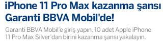 Garanti BBVA iPhone 11 Kazandırıyor