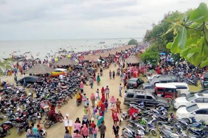 Libur Tahun Baru Objek Wisata Pantai Kerang Mas Di Lampung Timur Ramai Dikunjungi