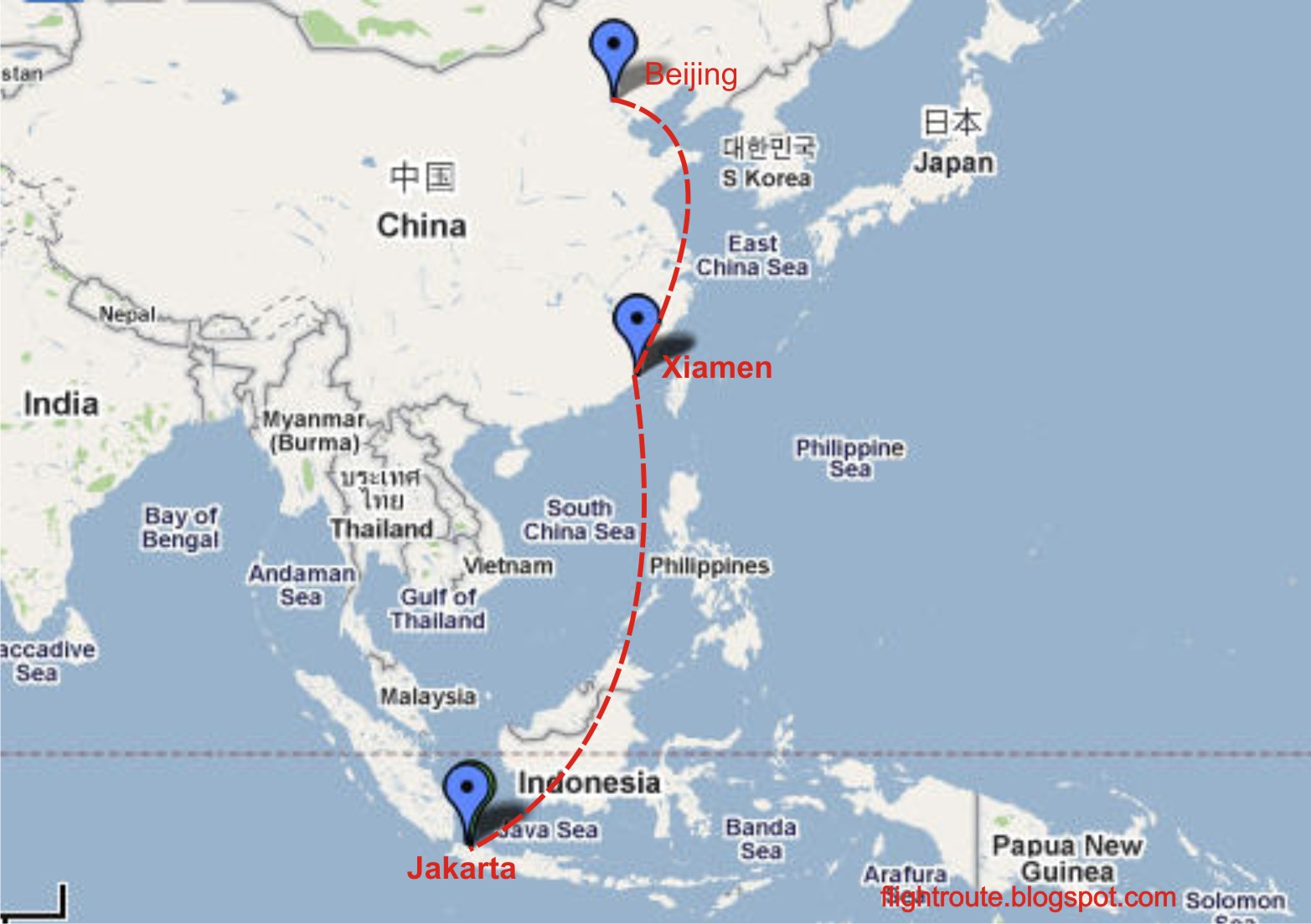 Civil Aviation Air China Flight Schedule From Jakarta To
