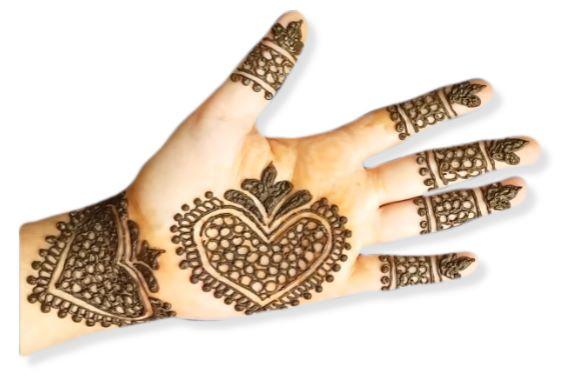 Front Hand Mehndi