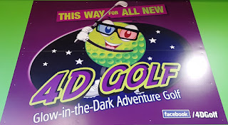 4D Cosmic Golf at Xplore at the Xscape Centre in Castleford