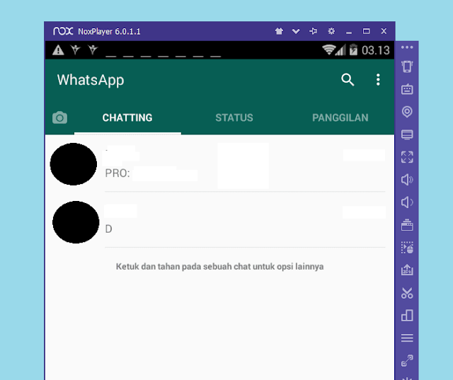 Tampilan WhatsApp di Laptop Lewat Emulator