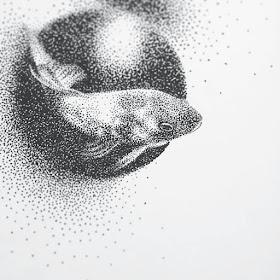07-Goldfish-Eric-Wang-Stippling-Drawings-www-designstack-co